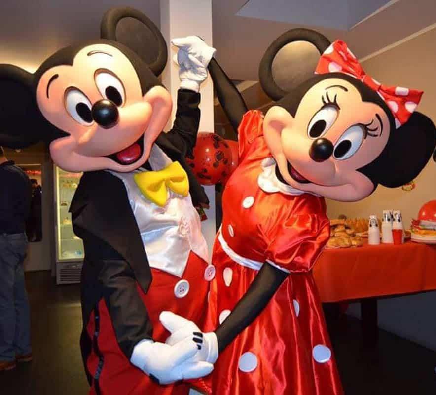 Mascotte de Mickey (personnage en costume) à louer pour anniversaire en Belgique