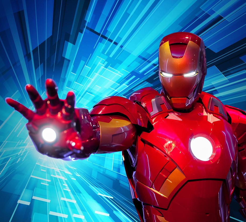 Mascotte de Iron man (personnage en costume) à louer pour anniversaire en Belgique